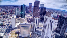 Century Link And Ritz Carlton Downtown Denver From Drone