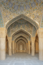 Portico Of Vakil Mosque. Vakil Means Regent, Which Was The Title Used By Karim Khan, The Founder Of Zand Dynasty.