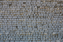 The Texture Of The Wall Of White Brick, Reinforced With Careless And Sloppy Layers Of Mortar