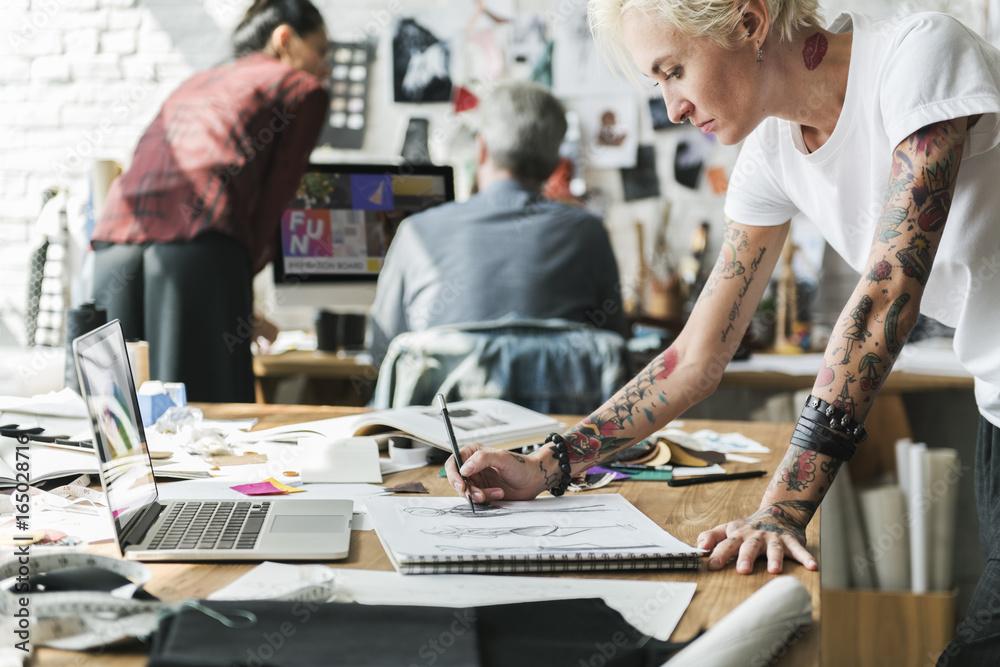 Fototapety, obrazy: Fashion Designer Stylish Showroom Concept