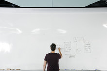 Startup Business People Writing On White Board Sharing Planning Strategy