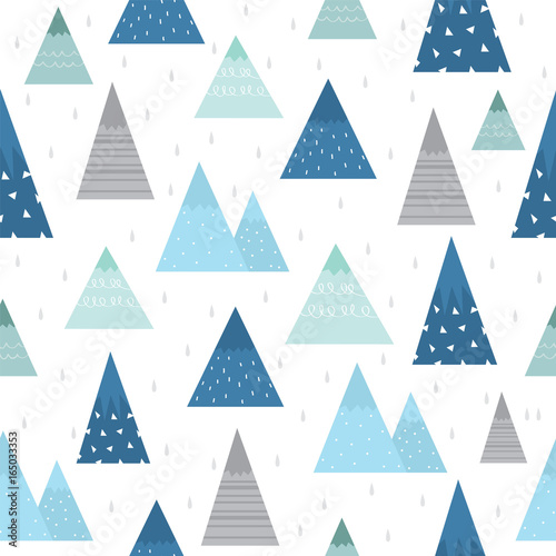 Cute mountain pattern