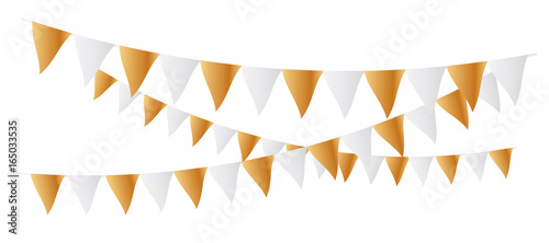 Valokuva  Gold and white Flags