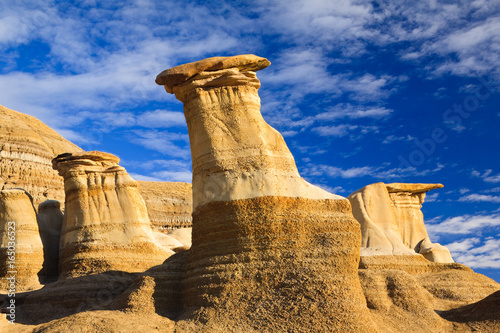 Hoodoos in the badlands near Drumheller, Alberta, Canada Wallpaper Mural