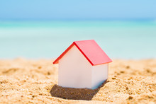 House Model On Beach