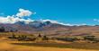 andean rolling hills near huaraz peru