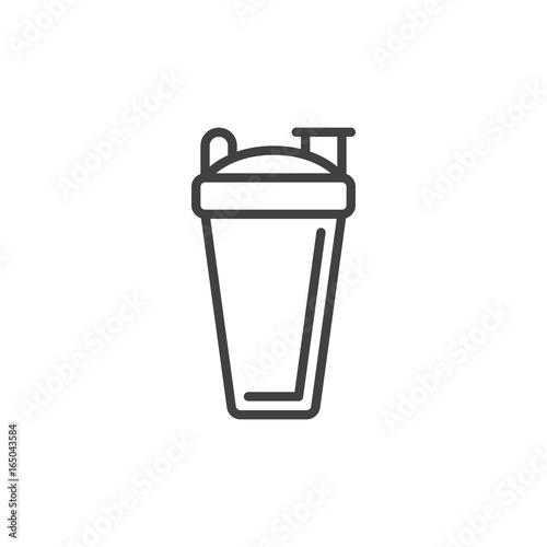 Sport shaker bottle line icon, outline vector sign, linear style pictogram isolated on white Wallpaper Mural