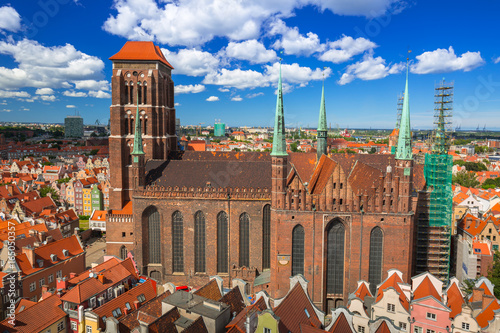 Fototapety, obrazy: Saint Mary Cathedral in the old town of Gdansk, Poland