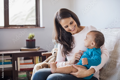 Photo  Baby on mother lap
