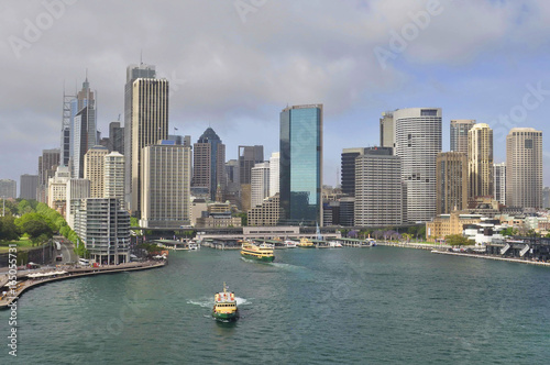 Staande foto Sydney A View of Sydney Harbor from the Ship, Australia