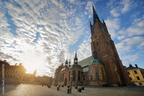 Photo  The Riddarholmen Church in Stockholm Sweden