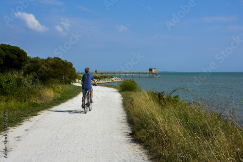 ballade en vélo Ile d'Aix  Charente maritime Canvas Print