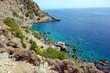 Coastline between Sougia and Agia Roumeli, E4 European long distance hiking path, Crete, Greece