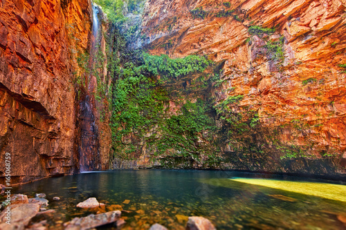 Fotomural Emma gorge and waterfall in Kimberley, Western Australia