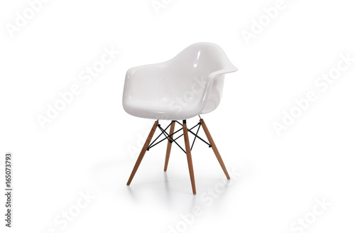 Pleasant Modern White Plastic Chair With Wooden Legs Buy This Stock Ibusinesslaw Wood Chair Design Ideas Ibusinesslaworg