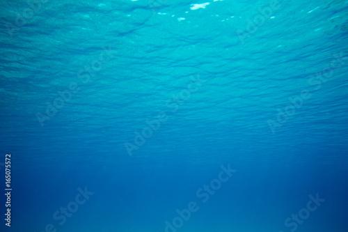 Fotobehang Fractal waves underwater scene with copy space