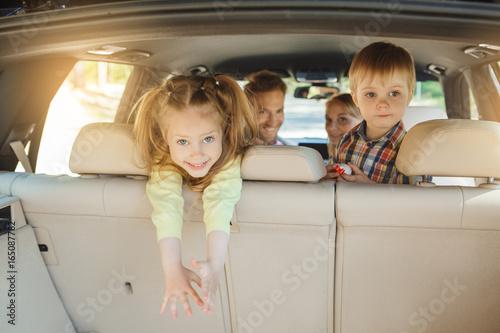 Fotografia, Obraz  Travel by car family trip together vacation