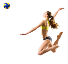 Girl Beach Volleyball Player (...