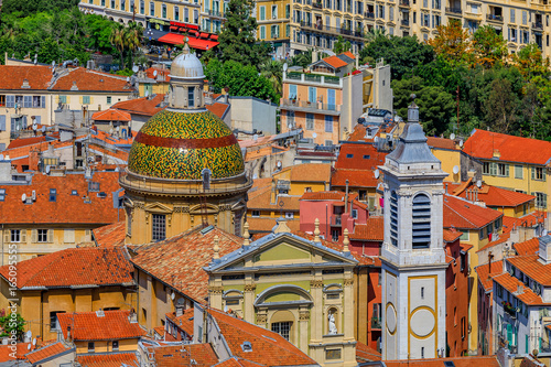 Terracotta rooftops of the Old Town, Vieille Ville in Nice on the French Riviera Canvas-taulu