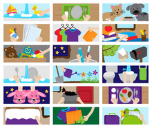 WebVector Collection Of Chore Chart Or Job Chart Activities For Kids