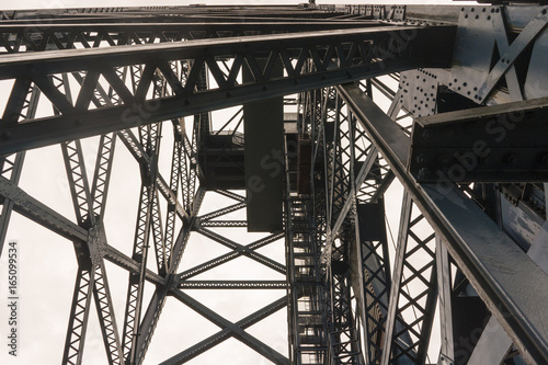 Fototapety, obrazy: Steel Metal Beams And Overhead Supports