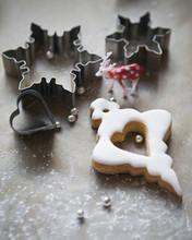 Baking Christmas Cookies.