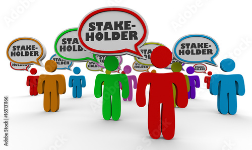 Photo Stakeholders People Speech Bubbles Members 3d Illustration