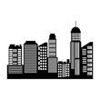cityscape skyline silhouette town architecture skyscrapers urban landscape