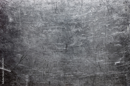 Tuinposter Metal Rough metal texture, gray steel or cast iron surface