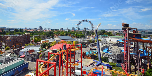 Photo sur Toile Attraction parc Wiener Prater, Riesenrad