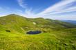 lake Nesamovyte among a green mountains