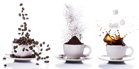 preparazione del caffè in s...