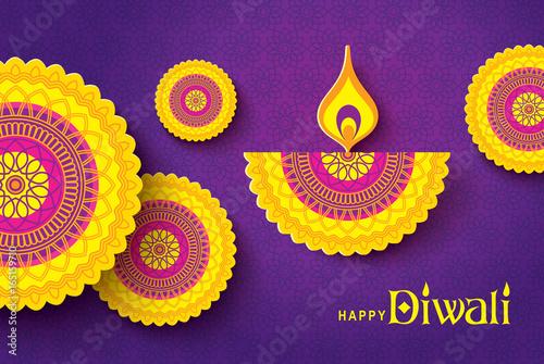 Diwali festival greeting card with beautiful rangoli and diya diwali festival greeting card with beautiful rangoli and diya backgrounds m4hsunfo