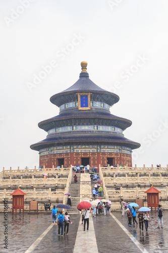 In de dag Peking Temple of Heaven Park in Beijing