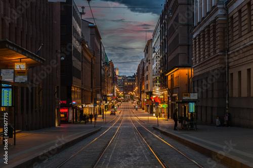 Obraz na plátně Helsinki city life. Streets, culture. Finland