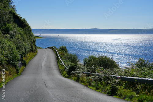 Driving on the road on the Isle of Arran, Scotland Wallpaper Mural