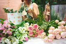 The Florist Makes The Bouquet ...