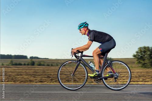 Man on road bike