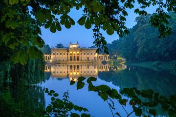 Panel Szklany Podświetlane Warszawa Pałac na Wyspie - Łazienki Królewskie