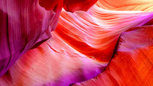 Patterns On The Rocks Of The Antelope Canyon In Arizona