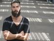 man beard shadow