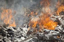 Burning Garbage Dump