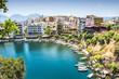 Agios Nikolaos City and Voulismeni Lake, Crete, Greece