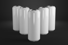 Row Of Beer Cans