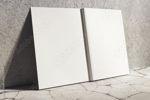 Fotografering  White hardcover notebook side