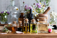 Selection Of Essential Oils Wi...