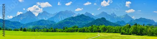 Aluminium Prints Mountains Summer mountains panorama, Schwangau, Germany
