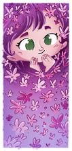 Niña Rodeada De Flores