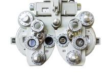 Phoropter, Medical Eye Optometrist Equipment Used For Medical Eye Exams..