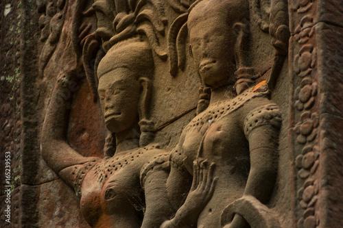 Foto op Plexiglas Xian Statues of Angkor Wat, Cambodia